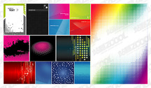 Featured Vector Background Material - Dot, Checked, Lines, Flashlight