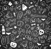 Hand-painted Halloween seamless background