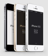 3-4 iPhone 5 s Psd Vector Mockup