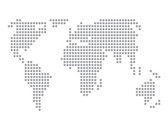 World map basic dots