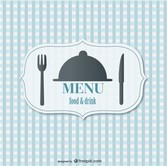 Food menu retro