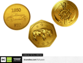 Free Gold Coins Money Renders by DesignerCandies PSD