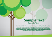 Green Tree Vector Background (Free)