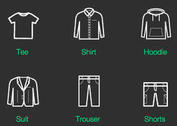Indiesss E-commerce Clothing Vector Icons