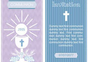 First Communion Invitation Vectors