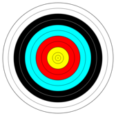 FITA Official Face; archery target