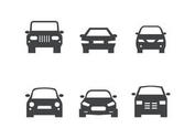 Black Car Front Silhouettes