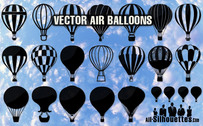 23 ballons d'air de vector