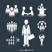 Business meeting people icons
