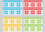 Winter Textile Vector Patterns