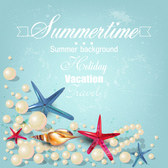 Illustration of Summer holiday beach background