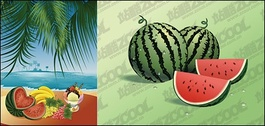 The seaside feast of fruits