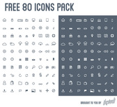 80 ilepixeli Mixed Glyph Icons Pack