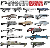 Mass Effect vecteur Weapons Pack