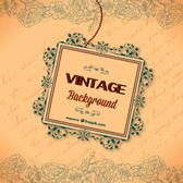 Vintage calligraphic greeting card