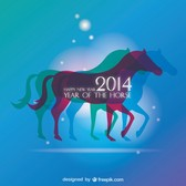 Background Design Horse Year Concept