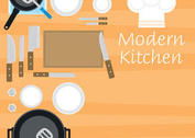 Modern Kitchen Vectors