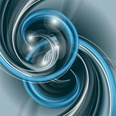 Abstract Blue Helix