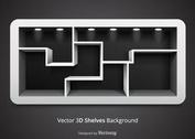 Free Vector 3D Shelves Background