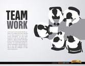 Cenital teamwork background