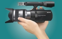 Realistic Sony Handycam with Hand
