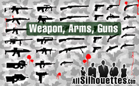 35 Free Vector Arms and Guns