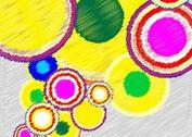 Circle Scribble Background