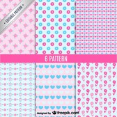Cute seamless patterns vector set