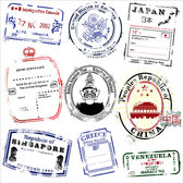 Several Countries Postmark