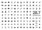 117 Excellent 28.7 Glyph Icons Pack PSD