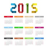 2015 Happy New Year Calendar