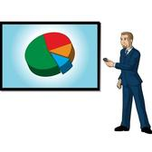 BUSINESSMAN WITH CHART VECTOR.eps