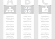 Monochrome Business Vector Banners
