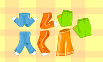 Vector collection of cartoon pants
