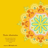 Yellow floral vector template
