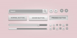 Clean GUI elements pack (PSD)
