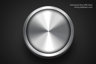 Shiny Metal Button Template PSD
