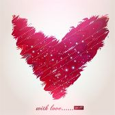 abstract heart-shaped pattern