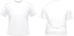 Front & Back White Tshirt Template PSD