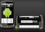 Google Nexus One template PSD