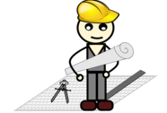 architect with compass and ruler