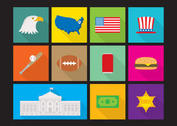 Flat Made In USA Flat Vectors