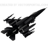 FIGHTER JET FREE VECTOR.eps