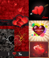 Romantic Valentine's Day greeting cards