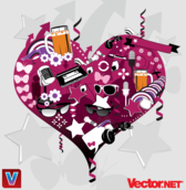 Free Vector Heart Collage Graphics