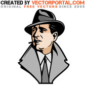 ACTOR HUMPHREY BOGART VECTOR.eps