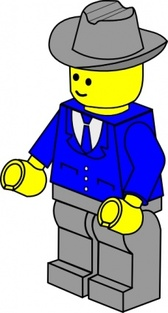 Lego Town Businessman