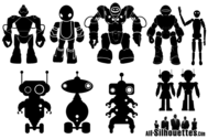 Free Vector Robot Silhouettes