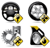 Automobile service and repair related icons