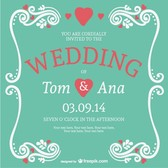 Elegant lettering wedding card